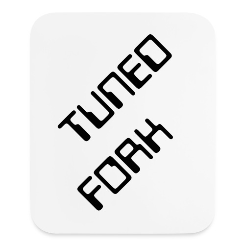 Mouse pad Vertical - Pad color - White | Print color - Black | Text - TUNED FORK