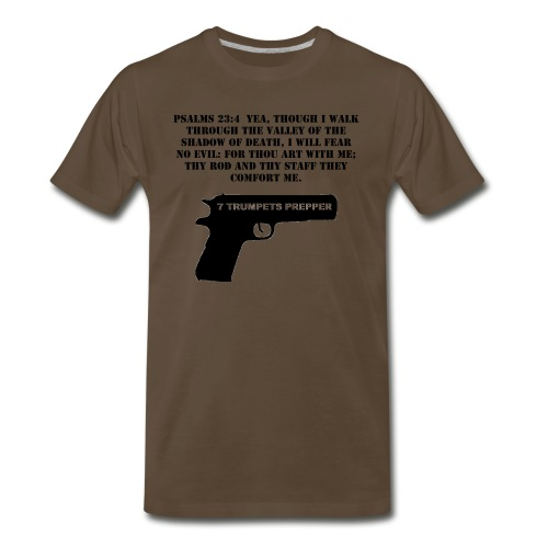 Psalms 23:4 1911 Pistol (Men's) - Men's Premium T-Shirt