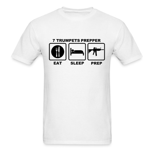 EAT SLEEP PREP (Black print on White) Men's - Men's T-Shirt