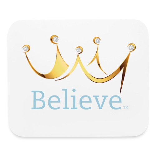 Believee Crown Mouse Pad in Blue - Mouse pad Horizontal