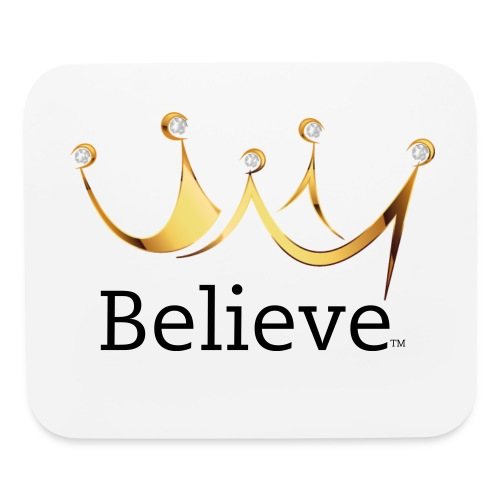Believee Crown Mouse Pad in Black - Mouse pad Horizontal