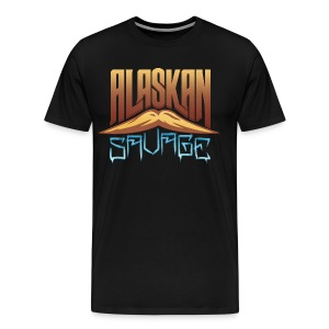 AlaskanSavage Men's Premium Mustache Tee - Men's Premium T-Shirt