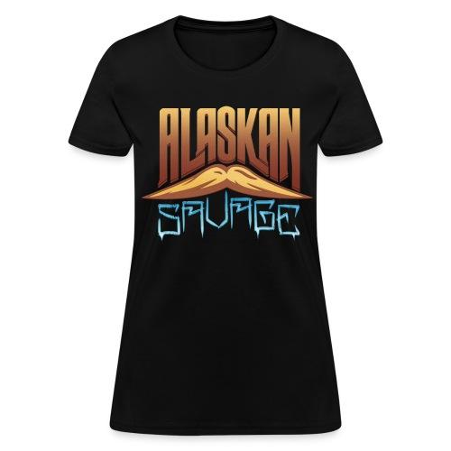 AlaskanSavage Mustache Woman's Tee - Women's T-Shirt