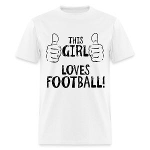 This Girl Loves Football - Men's T-Shirt