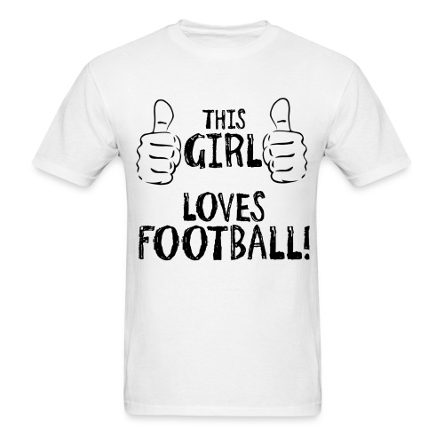 This Girl Loves Football - Men's T-Shirt