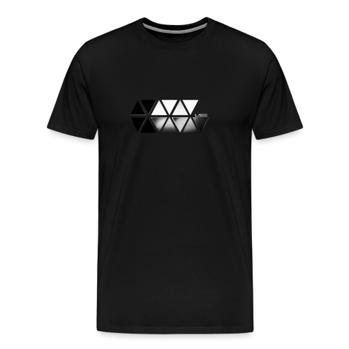 Black and White Lagg Slider T-Shirt Men's  - Men's Premium T-Shirt