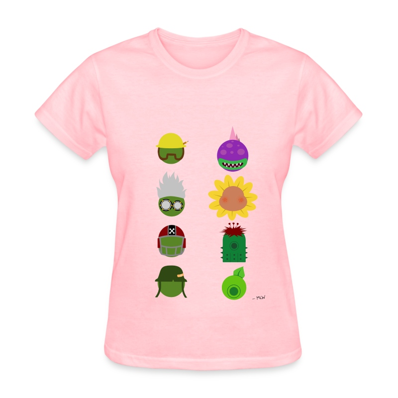 Simply PvZGW Characters - Women's T-Shirt
