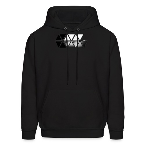 Black and White Lagg Slider hoodie Men's - Men's Hoodie