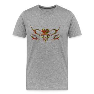 Colored Tribal/Hearts - Men's Premium T-Shirt