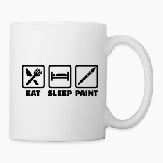 Eat Sleep paint Mugs & Drinkware