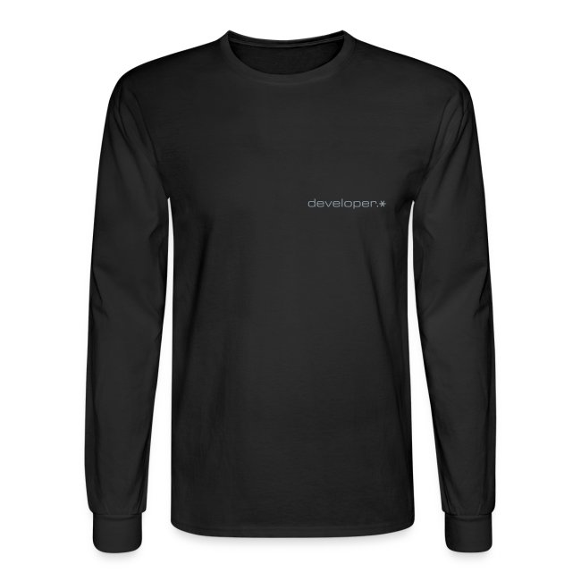 Black Longsleeve Hanes T w/ Silver d.* Logo