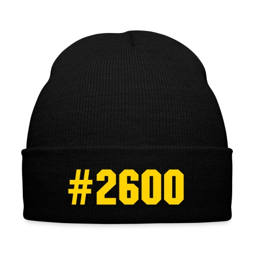 #2600 BEANIE(BLACK WITH GOLD) - Knit Cap with Cuff Print