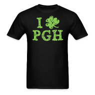 T-Shirts ~ Men's T-Shirt ~ I Love Pittsburgh St. Patrick's T