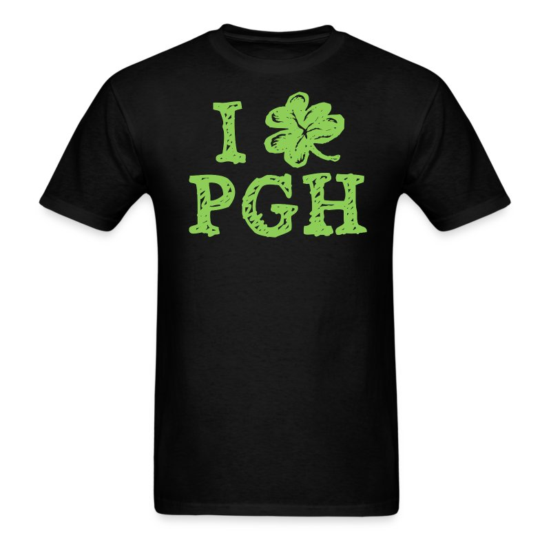 I Love Pittsburgh St. Patrick's T - Men's T-Shirt