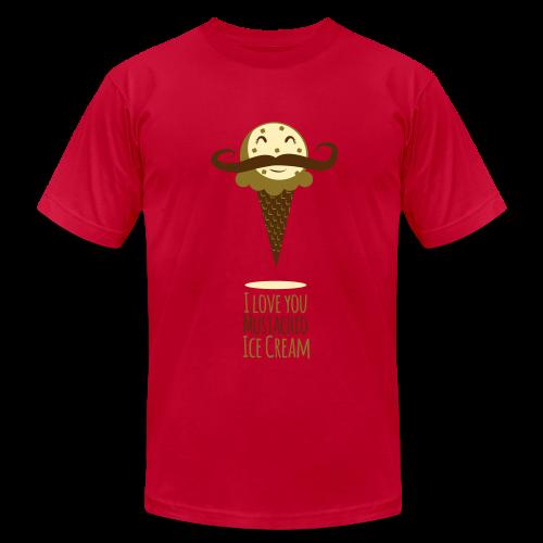 I Love Mustachio Ice Cream! - Men's Fine Jersey T-Shirt