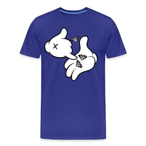 Diamonds In Mickey's Hands - Men's Premium T-Shirt
