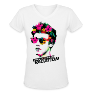 T-Shirts ~ Women's V-Neck T-Shirt ~ Permanent Vacation