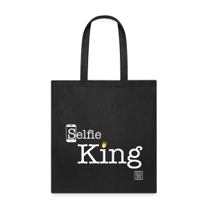 Selfie King (White) Tote Bag - Tote Bag