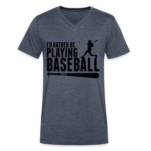 Play Ball - Men's V-Neck T-Shirt by Canvas