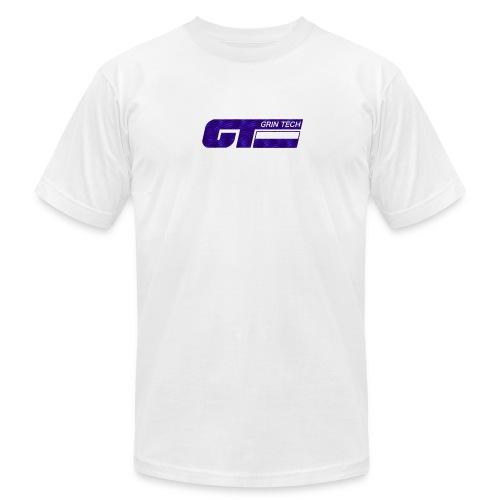 Grin-Tech-Logo-PrplZebra.png - Men's Fine Jersey T-Shirt