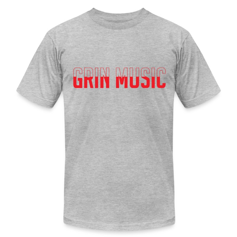 Grin-Music-Logo-RedTee.png - Men's T-Shirt by American Apparel