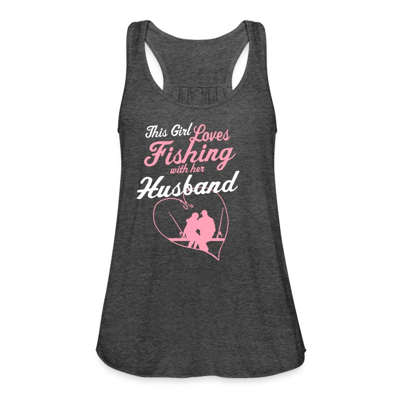 Fishing with her husband country closet tank top for Fishing tank top
