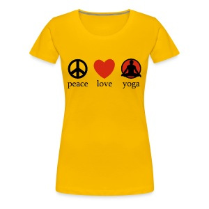 Peace Love & Yoga - Women's Premium T-Shirt
