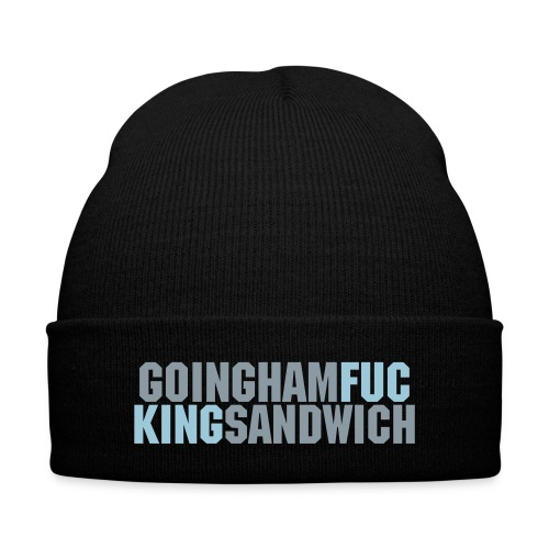 Going Ham Fucking Sandwich Light Blue/Silver Lettering (BEANIE) - Knit Cap with Cuff Print