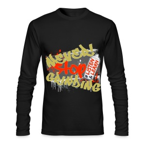 Men's Never Stop Grinding Long Sleeve Tee - Men's Long Sleeve T-Shirt by Next Level