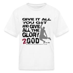Give It All Kids w/dark art - Kids' T-Shirt