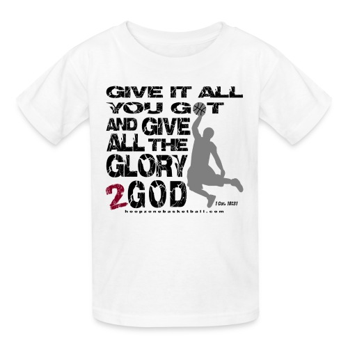 Give It All Kids w/dark art - Kids' T-Shirt