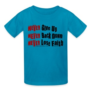 Never Kids w/dark art - Kids' T-Shirt