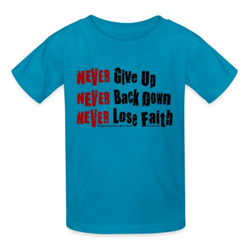 Never Kids w/dark art - Kids' T-Shirt