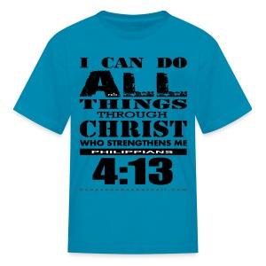 I Can Do All Things Kids w/dark art - Kids' T-Shirt