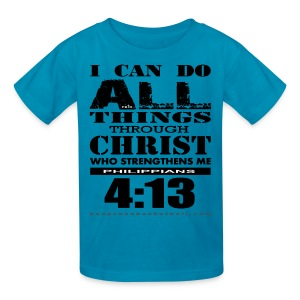 I Can Do All Things Kids w/dark art - Kids' T-Shirt