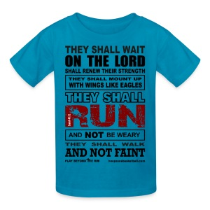 They Shall Run Kids w/dark art - Kids' T-Shirt