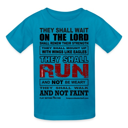 They Shall Run Kids w/dark art - Kids' T-Shirt