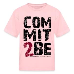 COMMIT2BE Kids w/dark art - Kids' T-Shirt