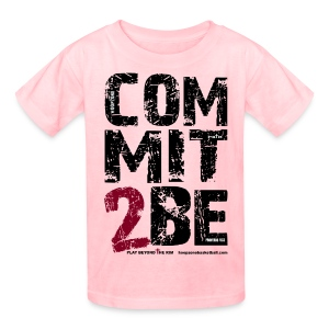 COMMIT2BE Kids w/dark art - Kids' T-Shirt