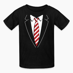 Tuxedo Striped Tie Kids' Shirts