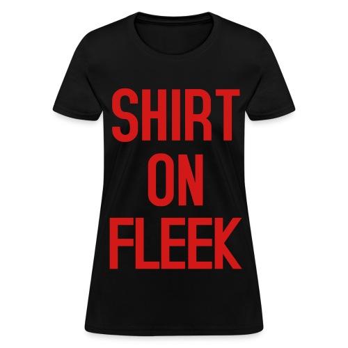 Womens Shirt on Fleek Black Red - Women's T-Shirt