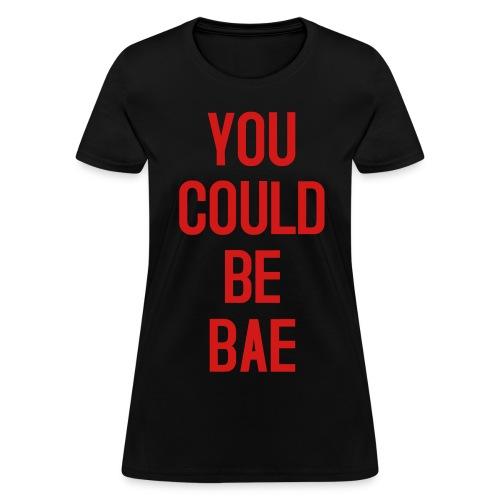 Womens Bae Black Red - Women's T-Shirt