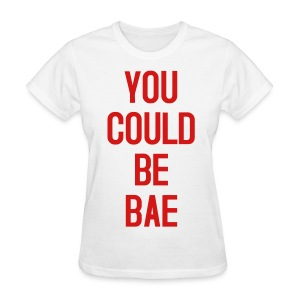 Womens Bae White Red - Women's T-Shirt