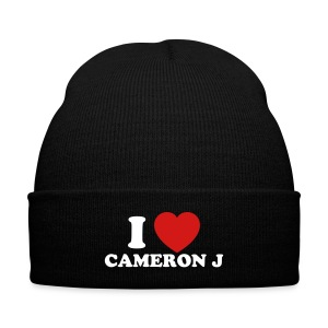 I Heart CamJ Knit Cap A - Knit Cap with Cuff Print