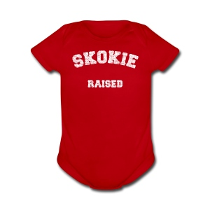 Skokie Raised - Short Sleeve Baby Bodysuit