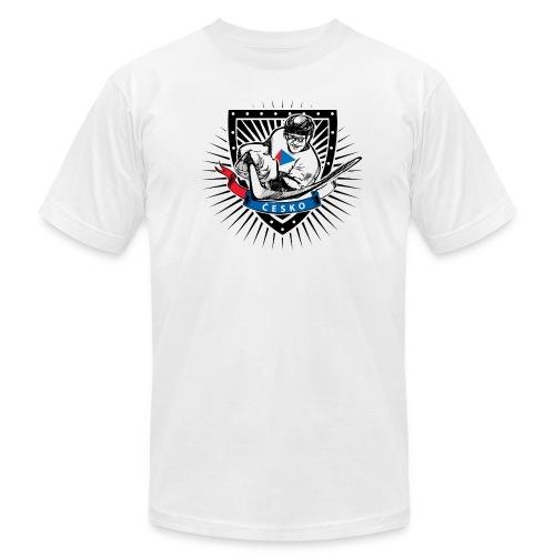 czech republic ice hockey helmet shield  - Men's Fine Jersey T-Shirt