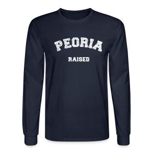 Peoria Raised - Men's Long Sleeve T-Shirt