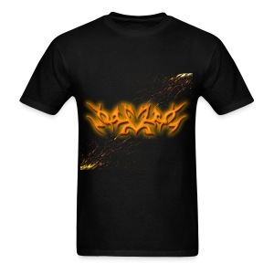 Mens Tribal Glowing Paint - Men's T-Shirt