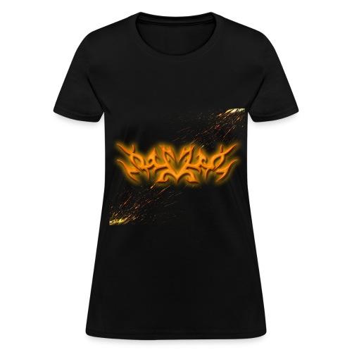 Womens Tribal Glowing Paint - Women's T-Shirt