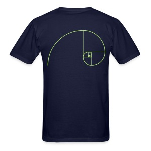Sacred Geometry Golden Ratio Spiral - Men's T-Shirt
